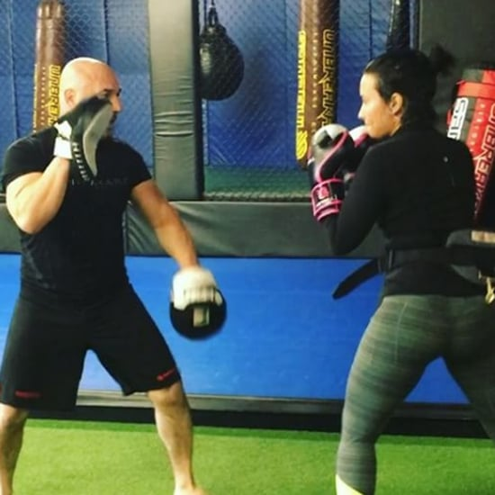 Demi Lovato Boxing With Sprained Ankle | Video