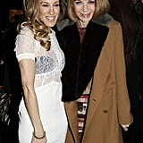SJP and Anna Wintour were all smiles in Louis Vuitton's front row.
