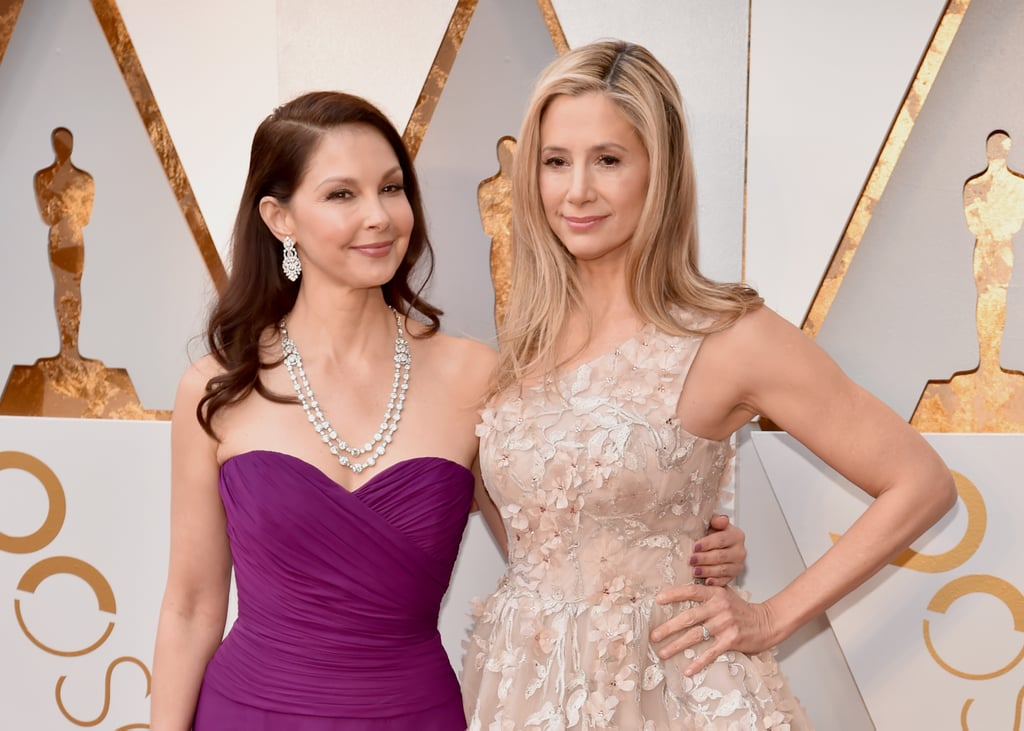 "Mira Sorvino and Ashley Judd arrived side by side for the Oscars in LA on Sunday night. The actresses posed for photos together on the red carpet and were all smiles together before heading inside for the big show. Both Ashley and Mira have been the headlines recently thanks to their bravery in coming forward with accusations of sexual misconduct against disgraced movie producer Harvey Weinstein.  In December, Lord of the Rings director Peter Jackson claimed that the Miramax founder attempted to blacklist the actresses from starring in the popular franchise in the late '90s, saying that he was ""fed false information about both of these talented women"" by Harvey Weinstein and his brother, Bob. The revelation was something Mira ""suspected but was unsure"" about, while Ashley responded, ""I remember this well.""Keep reading to see Mira and Ashley's night of solidarity at the Oscars.      Related:                                                                                                                                Ashley Judd Has the Women's March Fired Up With Her Impassioned ""Nasty Woman"" Poem"