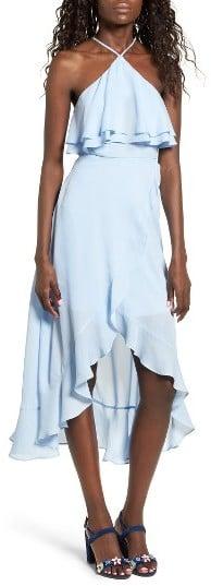 Dee Elly Ruffle Halter Midi Dress