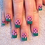 This watermelon manicure is perfect for Summer. Source: Instagram user nailsmakeupnmore