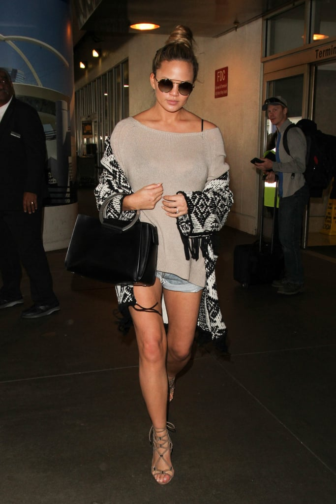 Chrissy Teigen Wearing Shorts While Pregnant