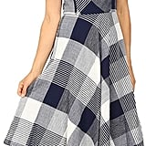 You can also try this Christin Michaels Amie Seersucker Gingham Fit and Flare Dress ($174) that is cinched at the waist.