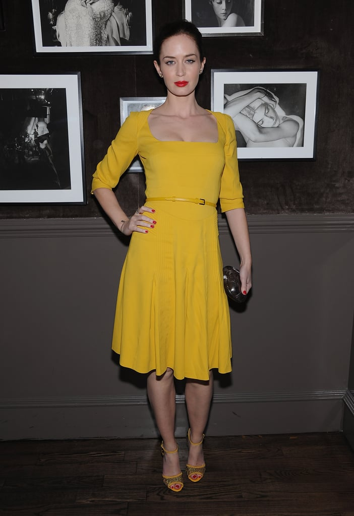 Emily Blunt at the Elie Saab private dinner in NYC.