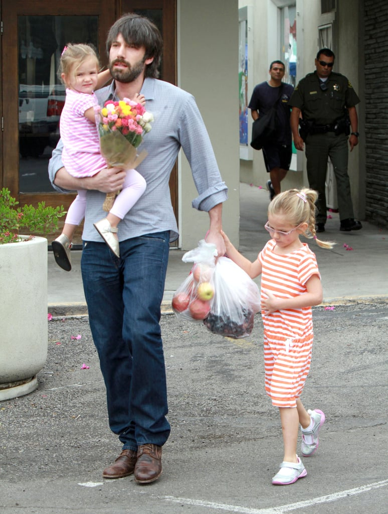 Ben Affleck and His Girls Violet and Seraphina Get Sweet While Shopping