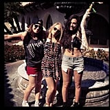 The Carrie Diaries costars AnnaSophia Robb and Chloe Bridges were in serious Coachella mode. Source: Instagram user chloebridges