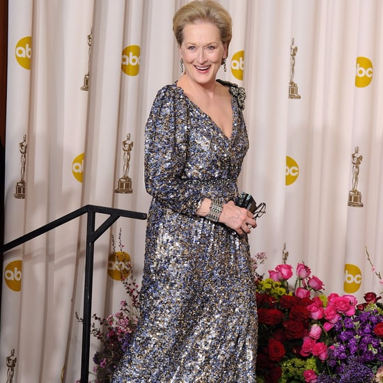 Meryl Streep Chanel Oscars Dress Drama 2017