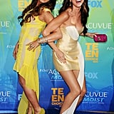 Demi Lovato and Selena Gomez at the 2011 Teen Choice Awards