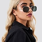 Na-kd Octagon Frame Sunglasses Black/Gold