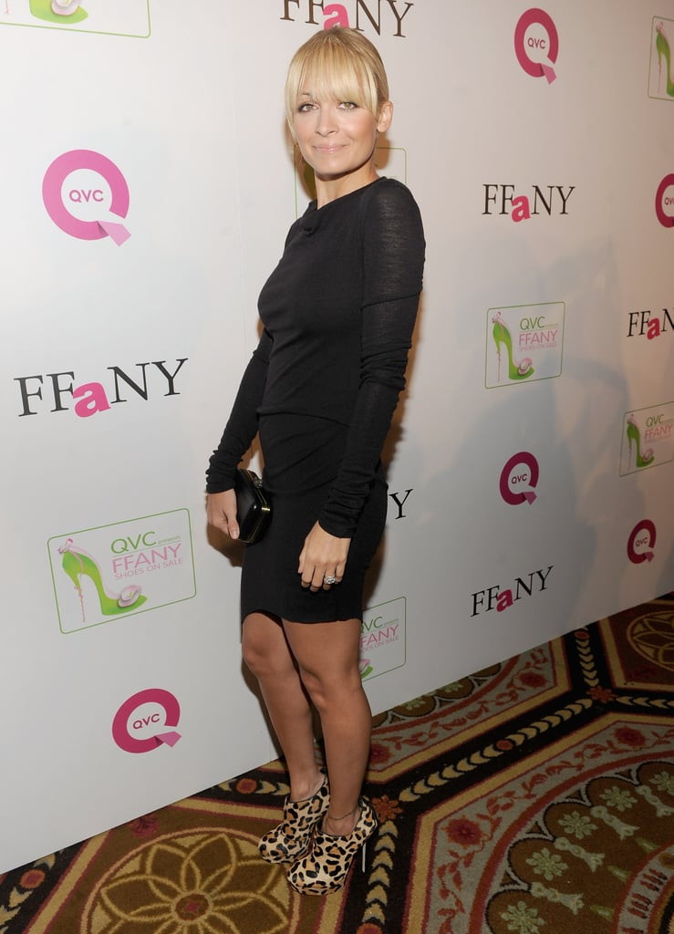 Nicole Richie In A Black Helmut Lang Dress Nicole Richie At Shoes