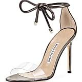 Manolo Blahnik Ankle-Wrap Sandal