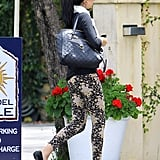 Selena Gomez headed into a restaurant to have lunch with her mom in LA.