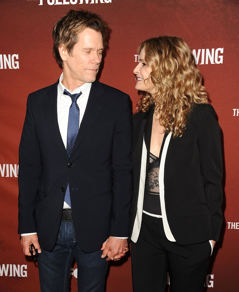 "After 27 years together, Kevin Bacon and Kyra Sedgwick are still going strong. The couple, who first met on the set of their 1988 film Lemon Sky, always look so in love on the red carpet, but their relationship wasn't exactly love at first sight. Even though Kyra thought that her costar was ""cocky"" at first, Kevin didn't stop pursuing her. In September 1988, the two tied the knot and have since welcomed two children, son Travis and daughter Sosie, who has followed in her parents' acting footsteps with her recent role in 13 Reasons Why. Keep scrolling to see their nearly three-decade-long romance in pictures."