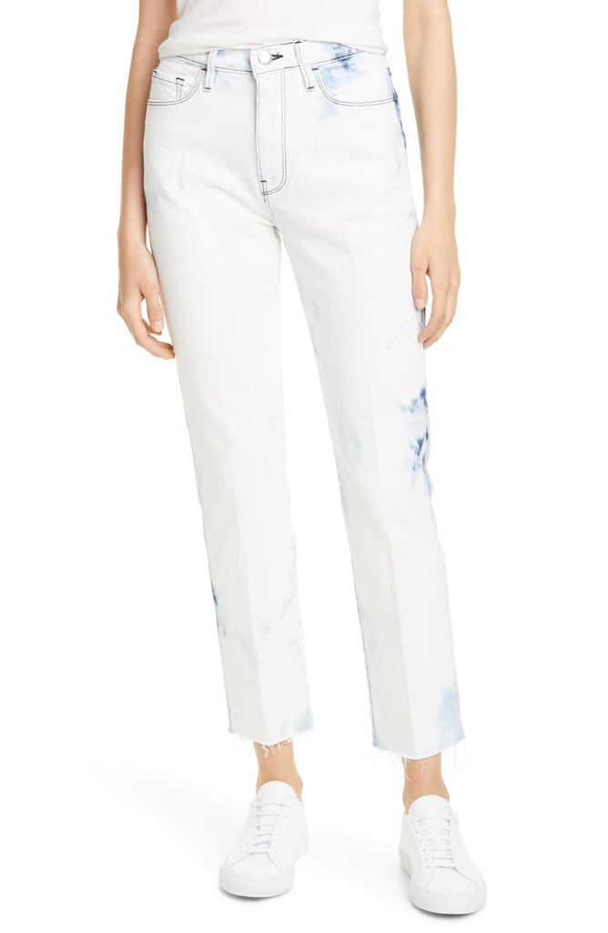 Frame Le Sylvie High Waist Ankle Raw Hem Straight Leg Jeans