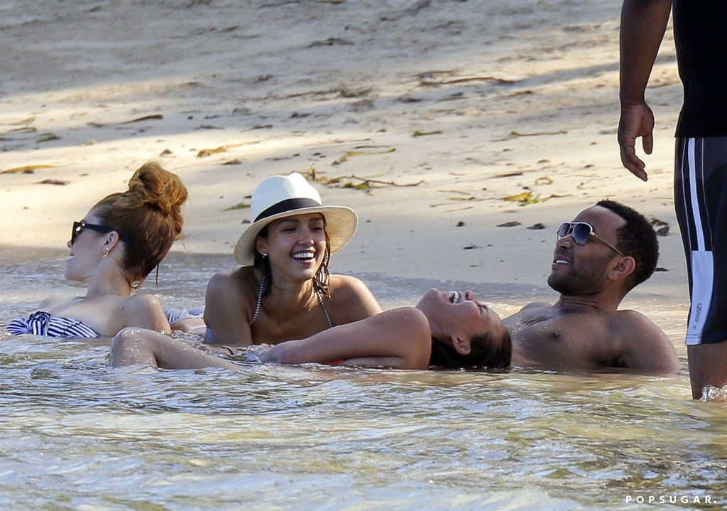 Chrissy Teigen And John Legend Beach
