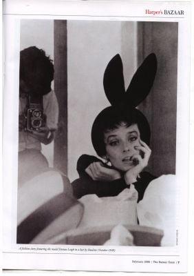 Dorian Leigh, Paulette hat, Harper's Bazaar UK, 1949.