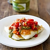 Parmesan Pesto Tilapia With Tomatoes
