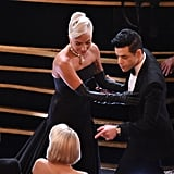 When Lady Gaga Ran Into Him During the Oscars, She Couldn't Resist Lending a Helping Hand