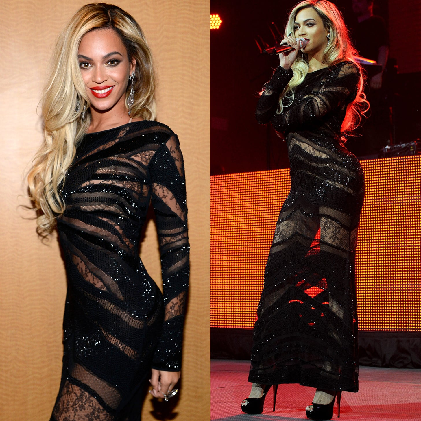 A night with beyonce dress pictures