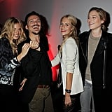 Sienna Miller, Matthew Williamson, Dree Hemingway and Cara Delevingne during London Fashion Week.