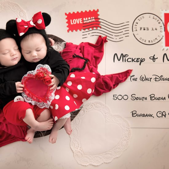 Mickey and Minnie Newborn Photo Shoot