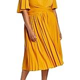 Eloquii Wrap Waist Jersey Midi Dress