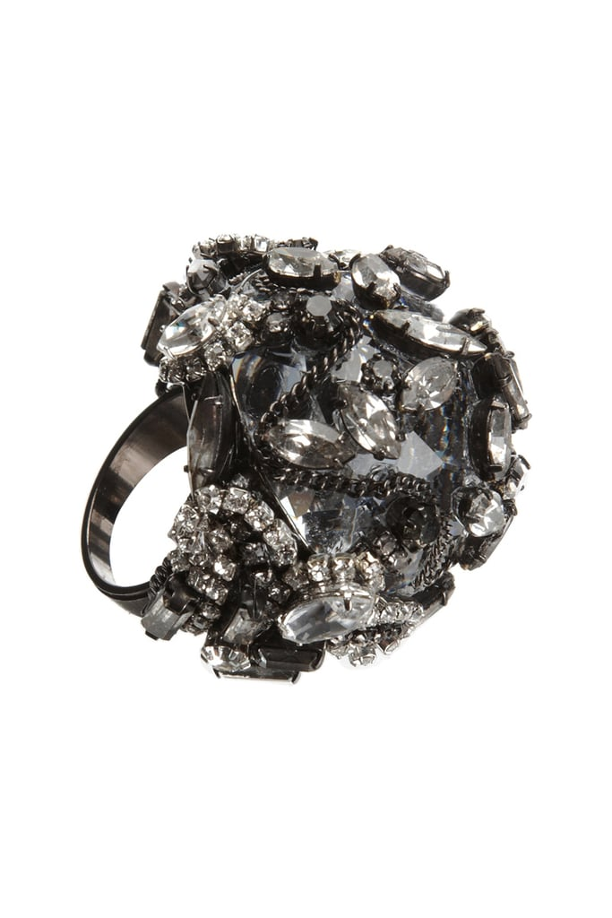 Add a new cocktail stunner to your jewelry box. We love the smoky stones of this Erickson Beamon sparkler ($189, originally $480).