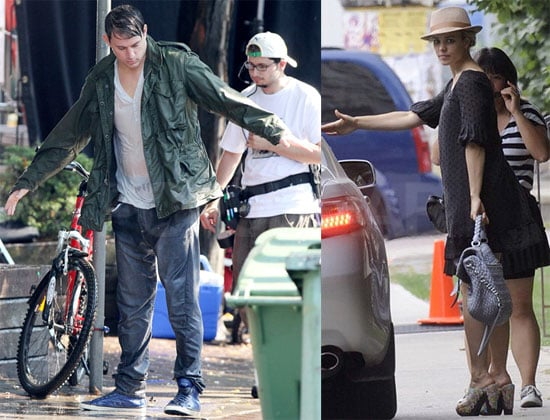 Pictures of Rachel McAdams and Channing Tatum on the Set of The Vow in Toronto