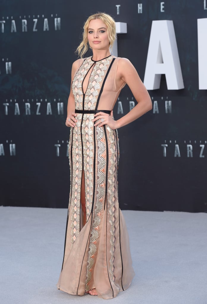 Wearing a Miu Miu gown and Messika jewels at the European premiere of The Legend of Tarzan.