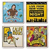 SNL Stoneware Coasters — Set of 4
