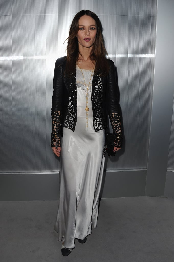 Vanessa Paradis went to a Chanel show.
