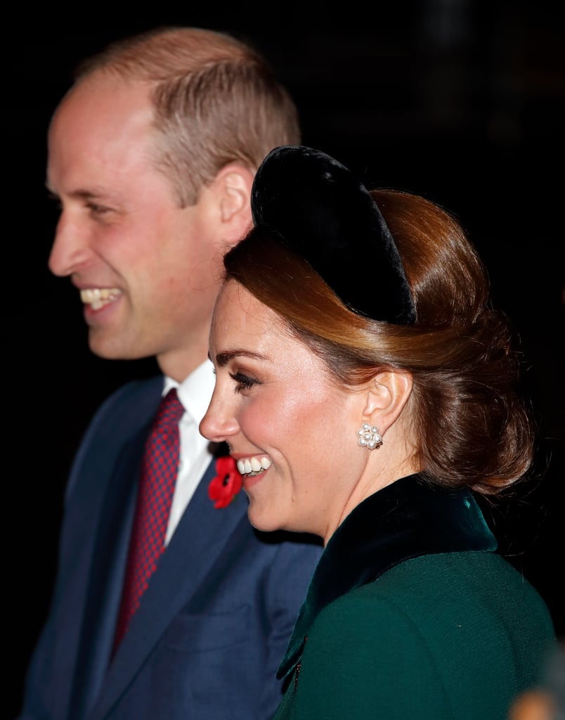 Kate Middleton at Armistice Day Service at Westminster Abbey in 2018