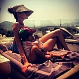 Model Doutzen Kroes and her son, Phyllon, hung out in the sun.  Source: Instagram User doutzenkroes1