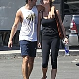 Emily VanCamp and Josh Bowman got close after a workout in LA.