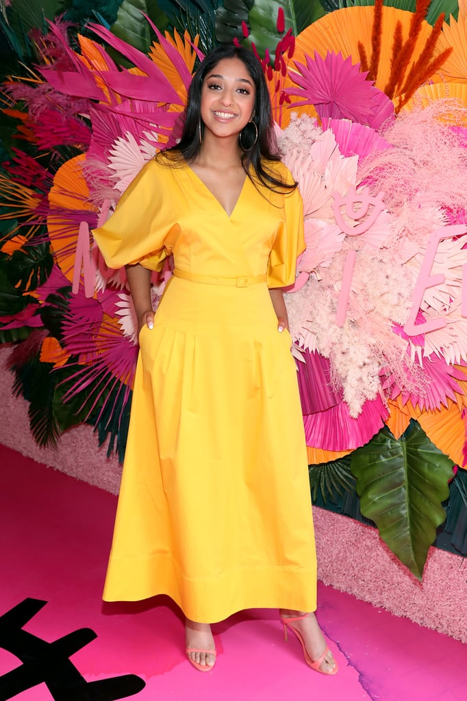 Maitreyi Ramakrishnan's Oscar de la Renta Yellow Dress