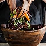Acacia Salad Bowl and Servers