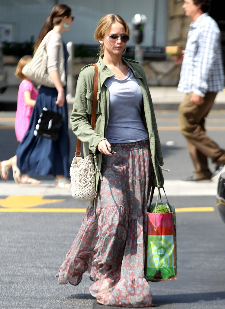 Jennifer Lawrence carried a bag while running errands in LA.
