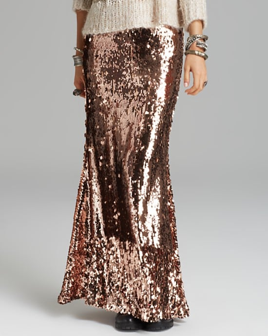 Free People Sequin Maxi Skirt