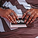 Lizzo's Glittery Cocoa Nails at the 2020 BRIT Awards