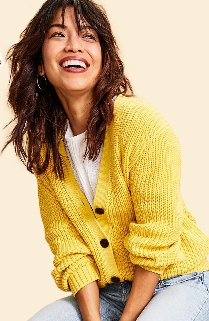 How to Style a Cardigan: Oversize With the Sleeves Pushed Up