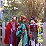 Girls Dressed Up as the Sanderson Sisters From Hocus Pocus