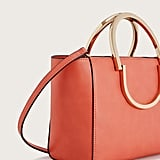 Violeta By Mango Metallic Handle Tote Bag