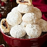 Raspberry Almond Snowball Cookies