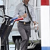 Matthew McConaughey took on his detective character role on Monday in New Orleans while on the set of the HBO series True Detectives.