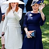 With her mom, Sarah Ferguson, at Royal Ascot in 2018.