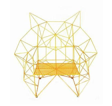 The Baltasar Portillo Geometric Chair lets geometrics show their wilder side.