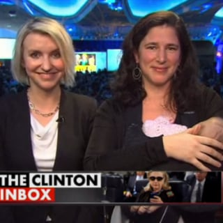 Pundit Appears on TV Show With Sleeping Baby