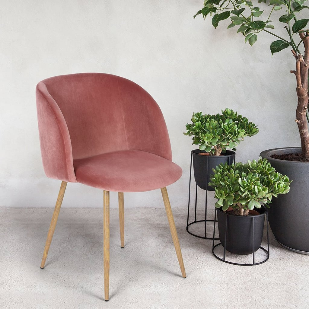Amazon midcentury velvet chair set popsugar home - Amazon bedroom chairs and stools ...