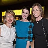 Zero Dark Thirty director Kathryn Bigelow linked up with Sharon Waxman and Mary Elizabeth Winstead at a pre-Oscars party in LA.