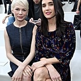 Over at Paris Fashion Week, Michelle Williams and Jennifer Connelly watched the Louis Vuitton show together on Wednesday.